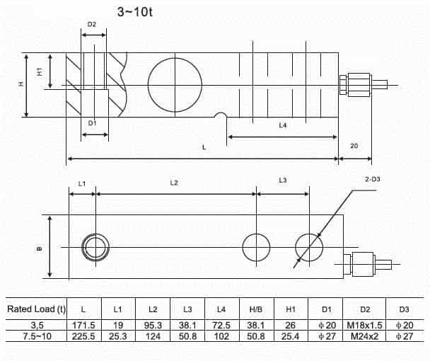 Load cell SQB-A 3~10t