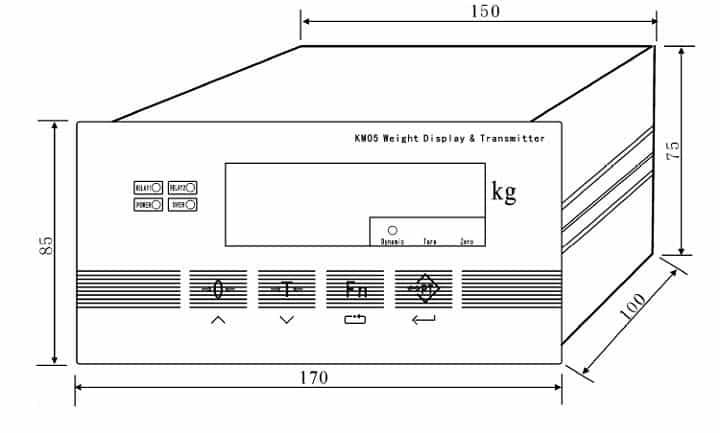 Kích thước lắp đặt Weight Indicator Controller XK3101 (KM05)