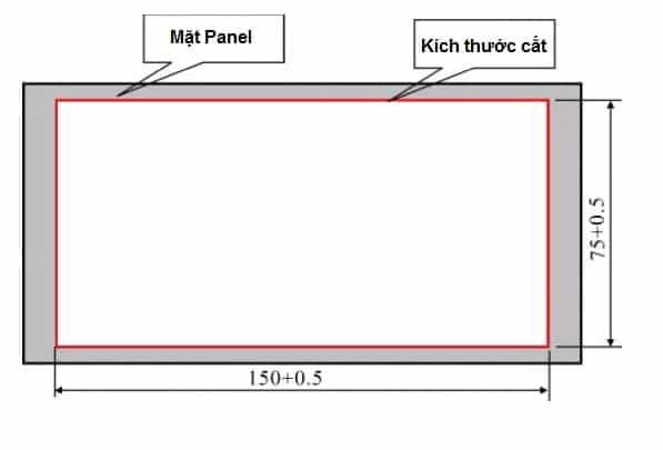 Kích thước lắp đặt Weight Indicator Controller XK3102-B1