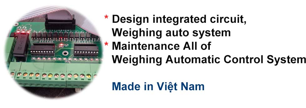Design integrated circuit, Weighing auto system. Maintenance all of weighing automatic control system